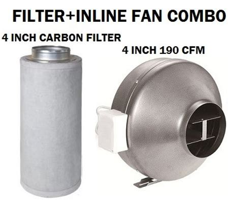 4 inch inline fan quiet new hydropronic 4 quot inline fan with carbon filter combo
