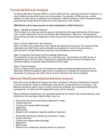 Sample Fba Report Sample Behavior Analysis 8 Examples In Pdf Word