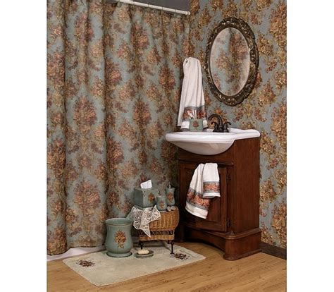 country shower curtains and accessories country rose by kathy ireland shower curtain and bath