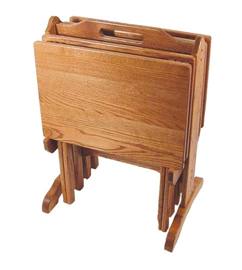 wooden tv tray tables four seasons furnishings amish made furniture amish made