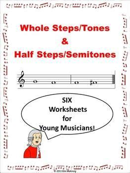 theory worksheets whole steps tones and half steps