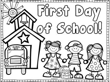 back to school coloring page kindergarten back to school coloring page freebie