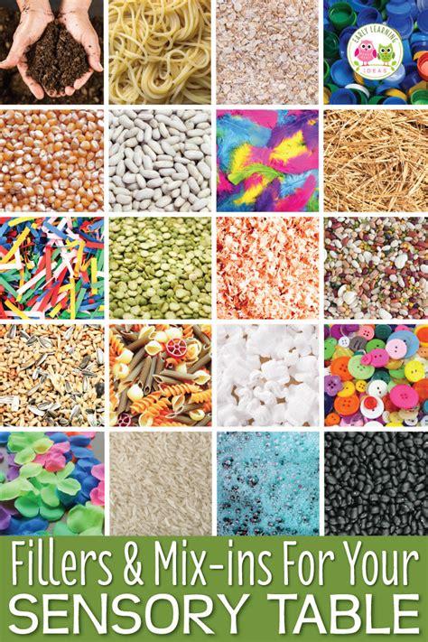 Sensory Table Materials Fillers Mix Ins And Tools