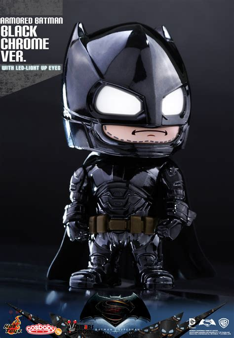 Cosbaby Armored Batman Matte Black From Hottoys toys armoured batman black chrome ver cosbaby