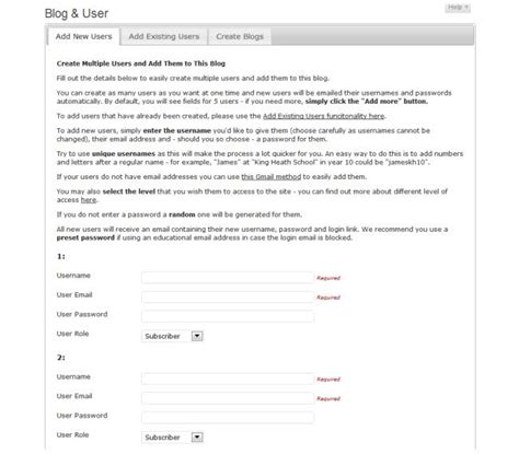 Wpmu Dev User Creator V2 3 wpmu dev and user creator plugin v2 3