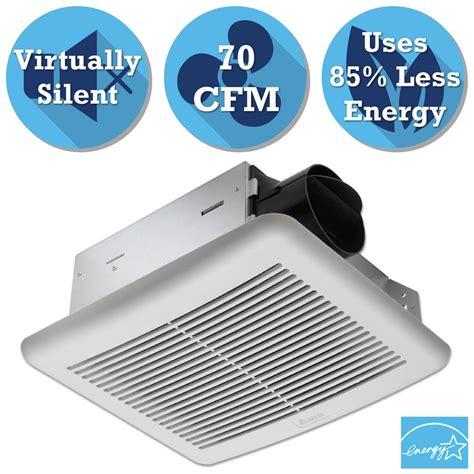 delta bathroom exhaust fan delta breez slim series 70 cfm wall or ceiling exhaust