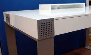 Computer Desk With Built In Speaker And Fan Novanta Desk Revisited Yanko Design