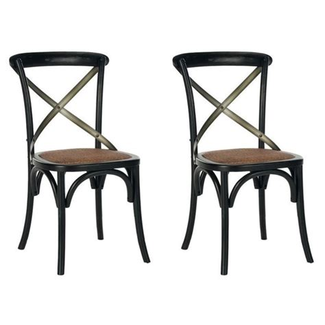 safavieh eleanor x back dining chair in hickory set of 2