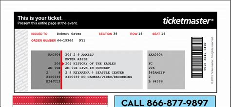 ticketmaster ticket template ticketmaster e tickets www pixshark images