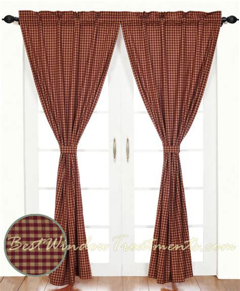Burgundy Check Curtains Burgundy Check Curtains Www Bestwindowtreatments