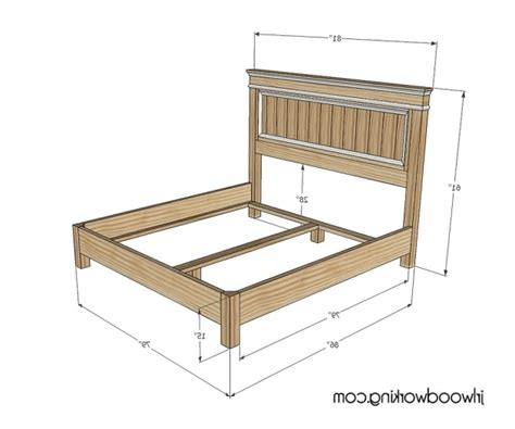 farmhouse bed plans king size headboard dimensions plans inspired fancy
