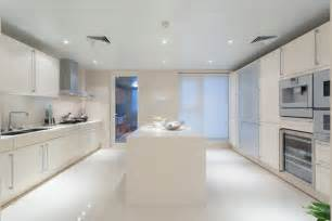Beautiful White Kitchen Designs by Kitchen Stylish White Modern Kitchen With Island 35