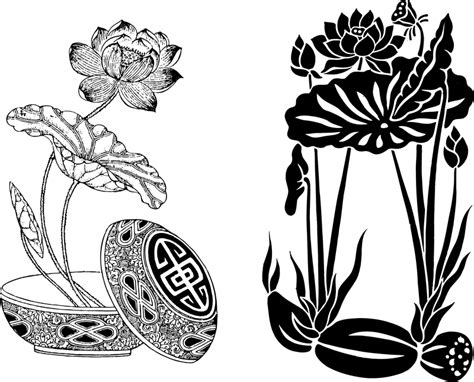both classical lotus lotus root vector vector download