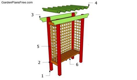 arbor bench plans plans to build garden arbor bench free plans pdf plans