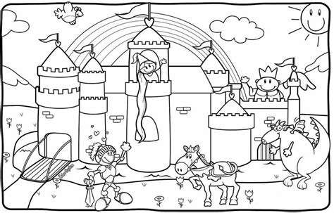 unicorn castle coloring page g 246 rsel sanatlar dersi serbest etkinlikler 2 sinif boyama