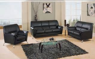 gl sofa set black leatherette sofas