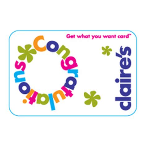 Claires Gift Cards - claires congratulations gift card findgift com