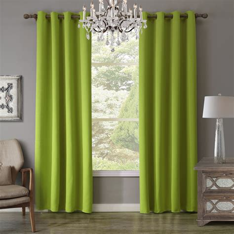 sunnyrain 1 green curtain for living room blackout
