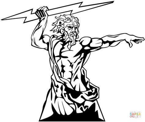 printable coloring pages of zeus zeus the god of olympia coloring page free printable