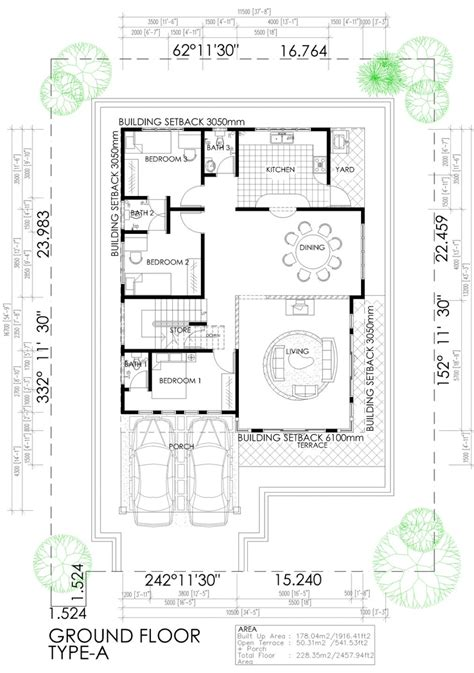 layout rumah 4 bilik contoh pelan lantai rumah banglo setingkat joy studio