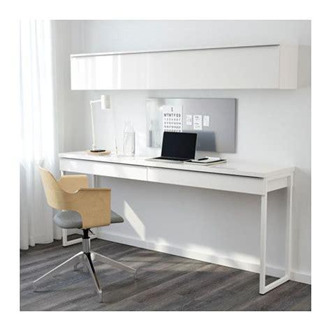 Ikea Besta Computer Desk by Best 197 Burs Desk Combination High Gloss White 180x40 Cm