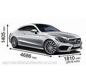 Dimensions Of Mercedes Benz Cars Showing Length Width And