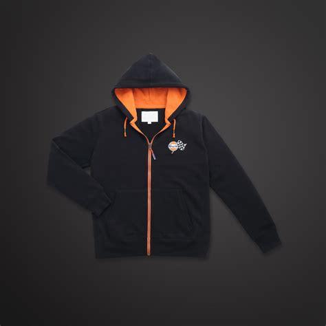 Gulf Hoodie gulf zip hoodie sweat jacket black by retromotoring