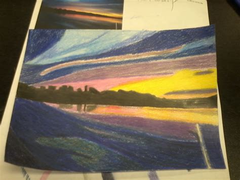 sunset colored pencil color pencil sunset by crowlita on deviantart