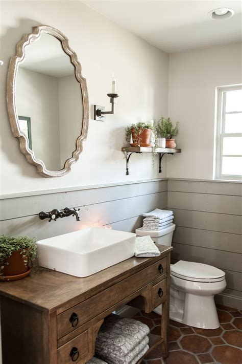 Remodelaholic   Get This Look: Fixer Upper Hot Sauce House Powder Room