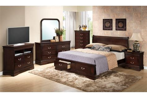 King Headboard Bedroom Sets by Bedroom Sets Dawson Cappuccino King Size Storage