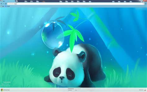 google chrome themes cute panda lea crespin google