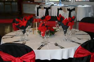 Red Black And White Wedding 35 Black And White Wedding Table Settings Table