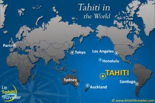 Tahiti Map Of World world map with tahiti the tahiti traveler