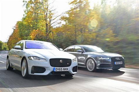 audi vs jaguar xf vs audi a6 auto express