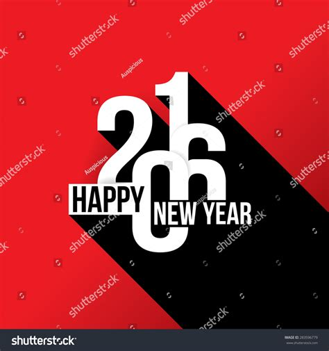 theme of new year 2016 vector illustration happy new year 2016 theme 283596779