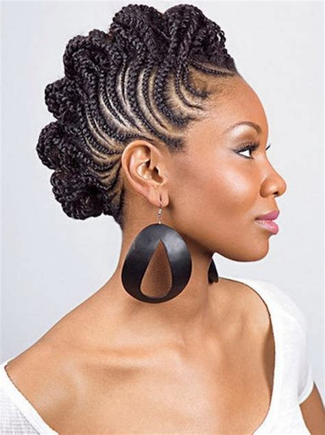 braided mohawk updo mohawk braided hairstyles for black women