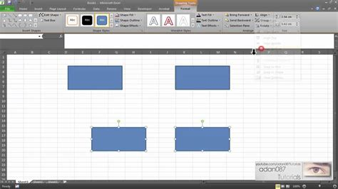 layout align excel align objects