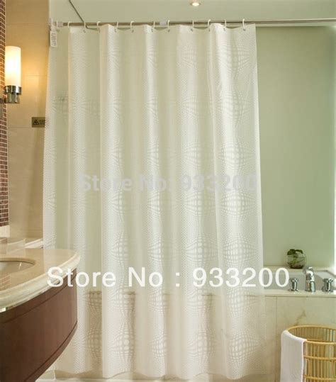What Size Are Shower Curtains by Aliexpress Buy White Ballpeva Material Bathroom