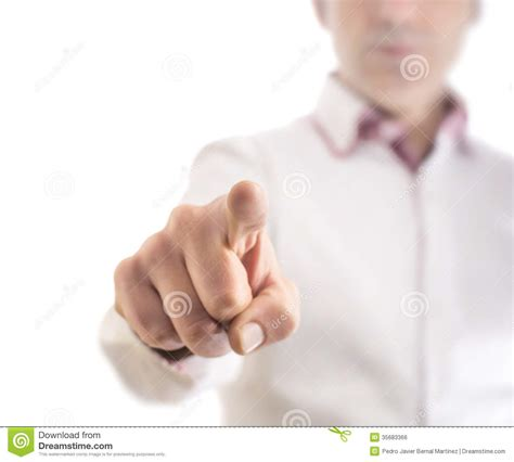 touch nothing on white stock photo image of creativity