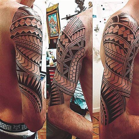 tribal pattern sleeves manly maori pattern tribal mens half sleeve tattoo design