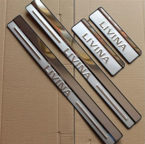 Door Sill Plate Livina With L Stainless stainless steel door sill scuff plate protector for nissan livina in atv parts accessories