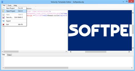 velocity template editor download