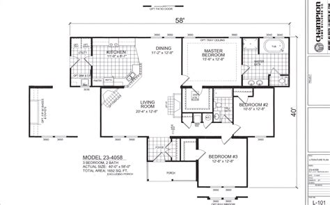 triple wide mobile home floor plans mobile homes floor plans triple wide