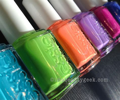 2014 essie neon swatches essie neon 2014 too taboo swatches and collection review