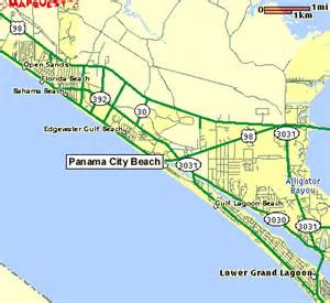 map to panama city florida panama city maps of the panama city area