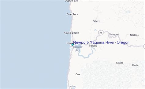 Tide Table Newport Or by Newport Yaquina River Oregon Tide Station Location Guide