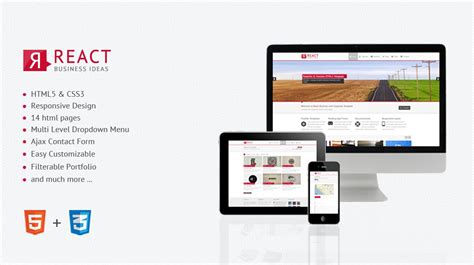 react templates react responsive html5 template themes templates