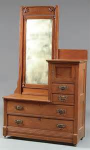 887 a oak gentleman s dresser with beveled