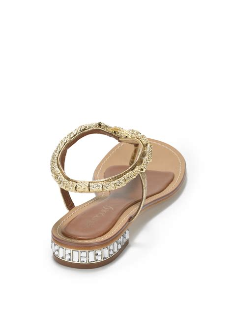 boutique 9 sandals lyst boutique 9 barbiera snake sandals gold in