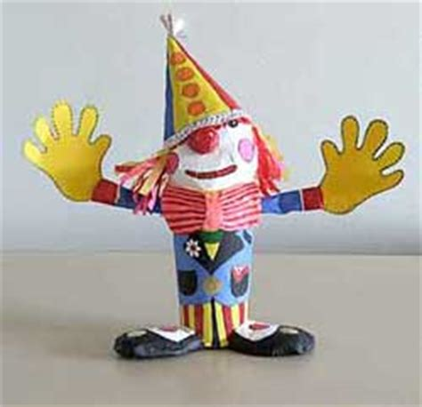 How To Make A Paper Clown - 3d projects paper cup clown